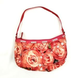 LeSportSac Floral Rose Sequin Small Hobo Bag